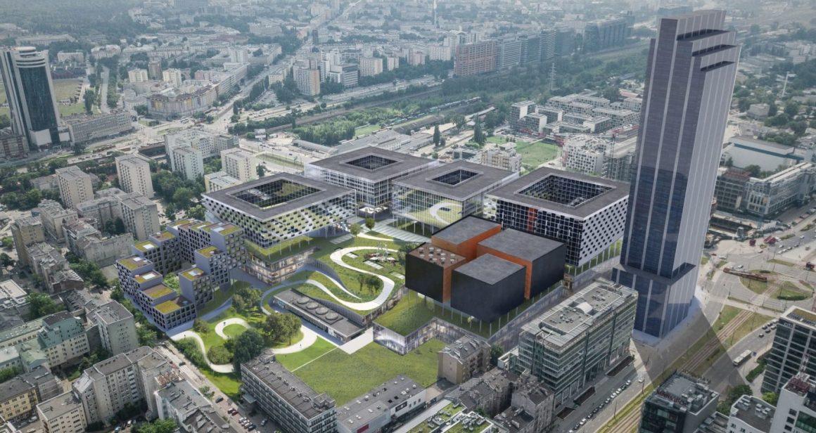 Wizualizacja projektu Towarowa 22, który ma powstać na warszawskiej Woli. Właścicielami projektu Towarowa 22 są EPP i Echo Investment. Fot. materiały inwestorów