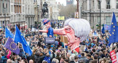 Rpotest przeciwko brexitowi w Londynie pod koniec marca 2019. Według szacunków, wzięło w nim od 700 tys. do 1 mln ludzi. Fot. Ink Drop / Shutterstock.com