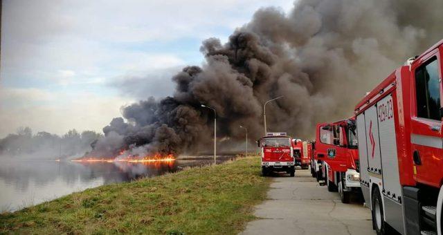 Pożar w zakładach Azoty. Fot. 300gospodarka.pl