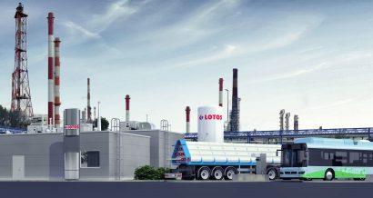 Projekt stacji ładowania wodoru LOTOS. Fot. materiały partnera