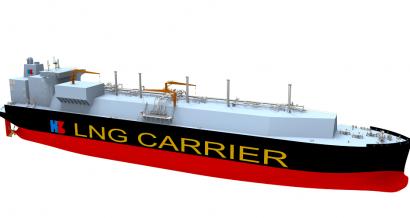 Tak może wyglądać największy na świecie tankowiec LNG. Fot. Hudong-Zhonghua Shipbuilding