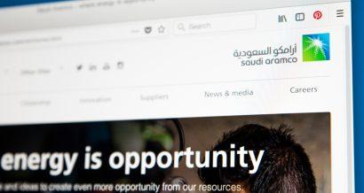 Strona internetowa Saudi Aramco. Fot. chrisdorney / Shutterstock.com