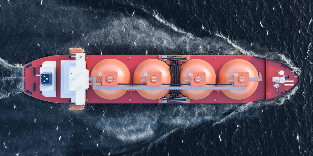 Statek do transportu LNG, Fot. Shutterstock.com