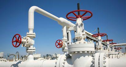 Zawory w gazociągu, Fot. Shutterstock