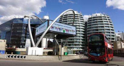 Old Street Roundabout, czyli tzw. Rondo Krzemowe (Silicon Roundabout) w Londynie. Fot. Vicky Jirayu / Shutterstock.com