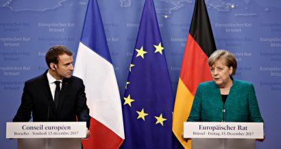 Emmanuel Macron i Angela Merkel, Fot. Alexandros Michailidis / Shutterstock.com