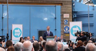 Nigel Farage na wiecu partii Brexit, Fot. Christopher Elliott / Shutterstock.com