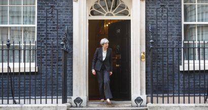 Theresa May na Downing Street, Fot. Drop of Light, Shutterstock.com