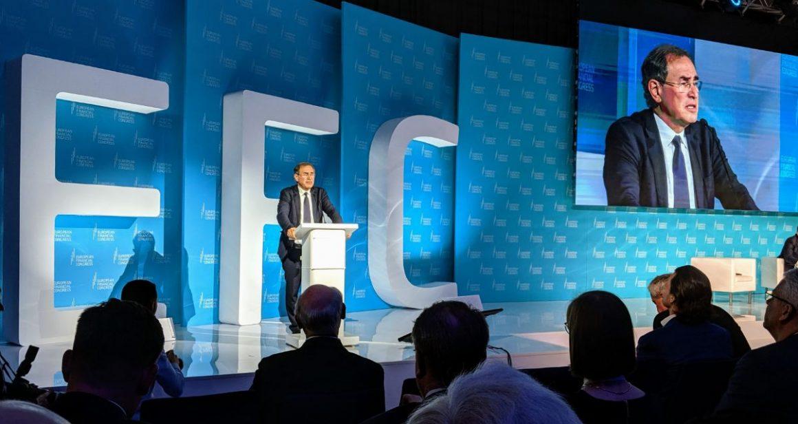 Profestor Nouriel Roubini przemawiający na Europejskim Kongresie Finansowym w Sopocie. Fot. 300Gospodarka