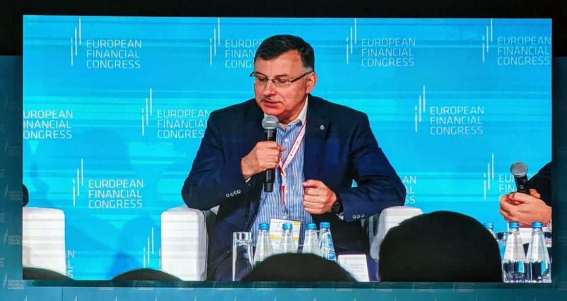 Zbigniew Jagiełło, prezes PKO BP na Europejskim Kongresie Finansowym w Sopocie. Fot. 300Gospodarka