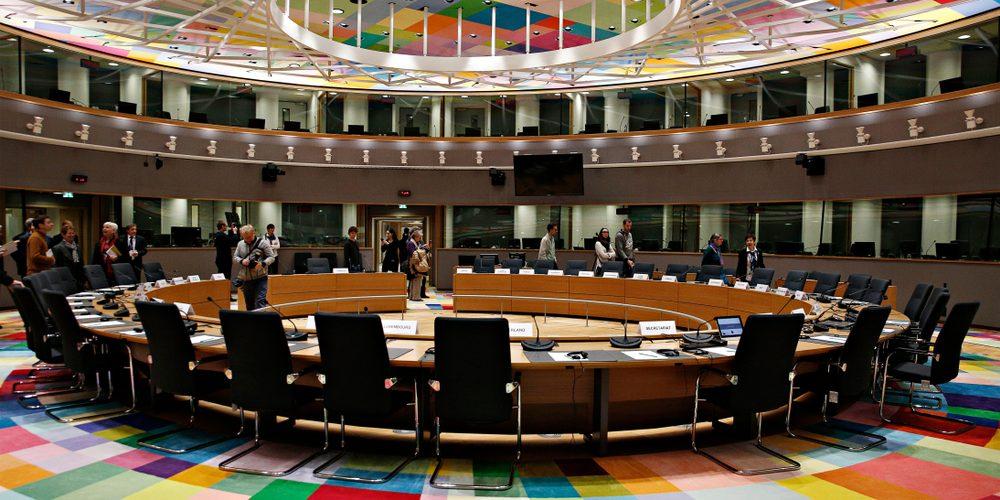 Sala obrad Rady Europejskiej w Brukseli. Fot. Alexandros Michailidis / Shutterstock.com