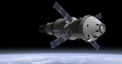 Artystyczna wizja statku Orion w kosmosie. Fot. NASA (domena publiczna)
