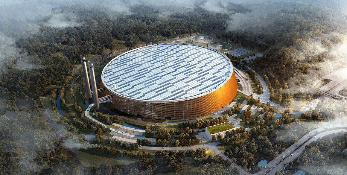 Wizualizacja spalarni w Shenzen. Got. SHL Architects