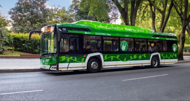 Elektryczny autobus Solaris 12 Urbino electric, Mediolan. Fot materiały Solaris