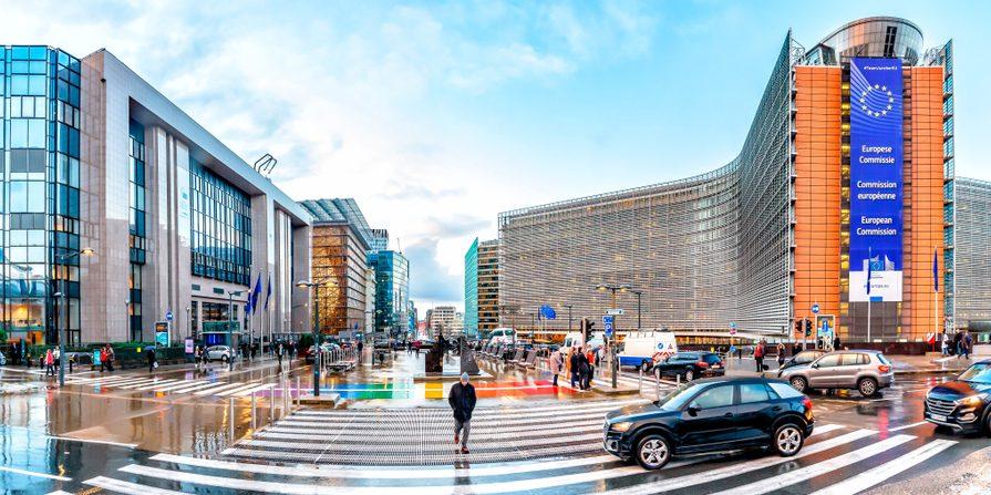 Berlaymont - budynek, w którym ma siedzibę Komisja Europejska, Bruksela. Fot. Forance / Shutterstock.com
