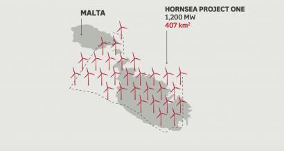 Hornsea będzie większa od terytorium Malty. Fot. Orsted