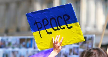 Protest przeciwko wojnie w Donbasie, Fot. Shutterstock.com