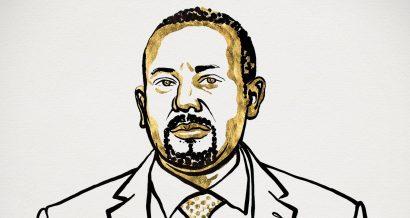 Abiy Ahmed Ali . Ilustracja dla Komitetu Noblowskiego: Niklas Elmehed
