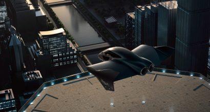 Artystyczna wiza tego, jak może wyglądać produkt Porsche i Boeinga.