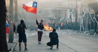 Protesty w Chile, październik 2019 r. Fot. erlucho / Shutterstock.com