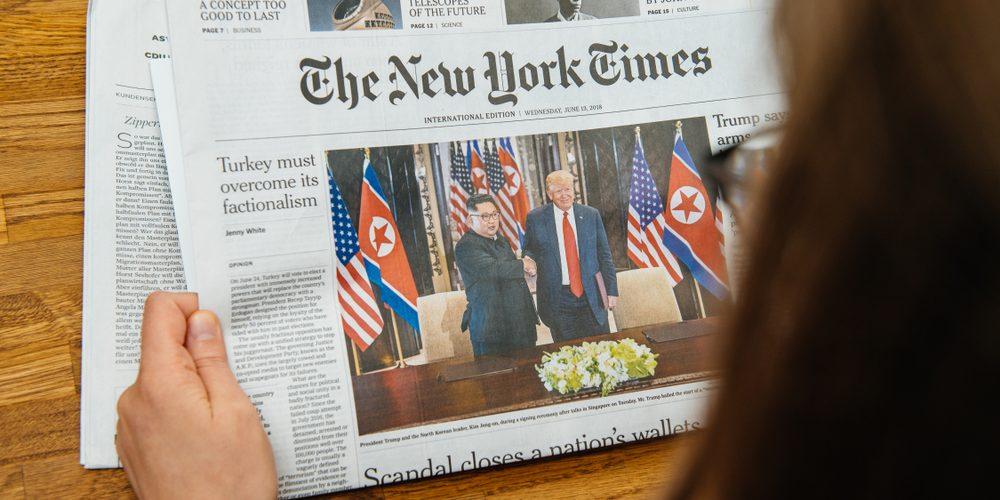 The New York Times, Fot. Hadrian / Shutterstock.com