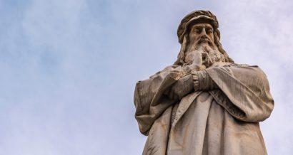 Pomnik Leonarda da Vinci w Mediolanie, Włochy. Fot. Shutterstock