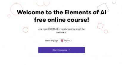 Kurs sztucznej inteligencji elementsofai.com