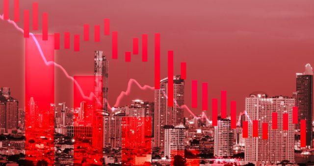 Wykres, panika. Fot. Shutterstock