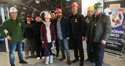 Górnicy wraz z Gretą Thunberg w kopalni Guido. Źródło: FB Jerzego Hubki