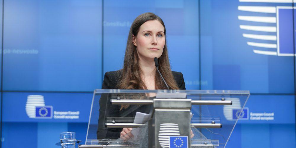 Sanna Marin, premier Finlandii. Fot. Nicolas Economou / Shutterstock.com
