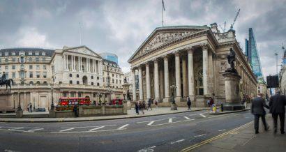 Siedziba Bank of England w Londynie. Fot. Willy Barton / Shutterstock.com