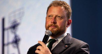 Minister zdrowia Łukasz Szumowski. Fot. Grabowski Foto / Shutterstock.com