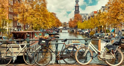 Holandia, rowery w Amsterdamie, fot. Shutterstock.