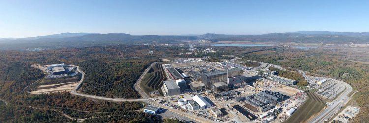 Reaktor termojądrowy ITER, widok z drona, fot. iter.org.