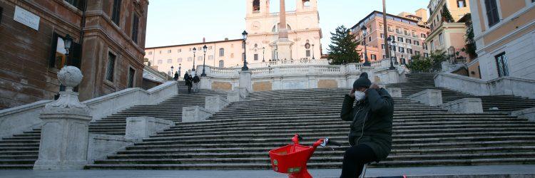 Rzym podczas pandemii, Włochy, Fot. Marco Iacobucci Epp / Shutterstock.com
